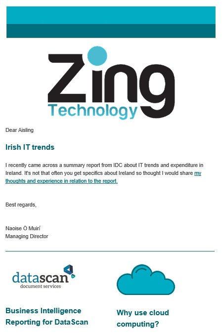 Zing newsletter August 2018