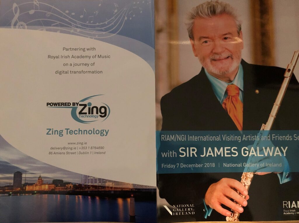 Zing sponsors RIAM visiting artists series