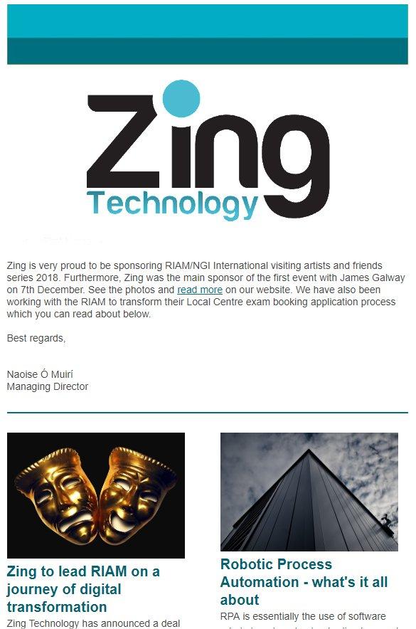 January 2019 newsletter - Zing Technology   Modernising your